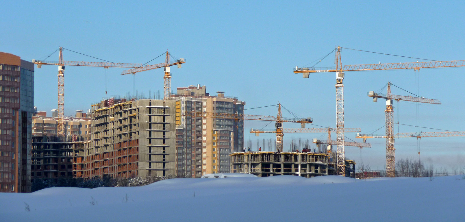 аренда башенного крана спб, аренда башенного крана москва, аренда башенного крана санкт-петербург. объект юбилейный спб